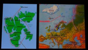 Svalbard archipelago location
